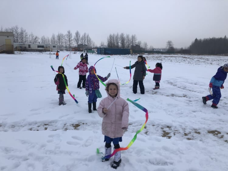 Streamers in the Snow